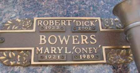 "BOWERS, MARY L. ""ONEY"" - Yankton County, South Dakota   MARY L. ""ONEY"" BOWERS - South Dakota Gravestone Photos"