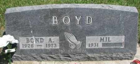 BOYD, BOND A. - Yankton County, South Dakota | BOND A. BOYD - South Dakota Gravestone Photos
