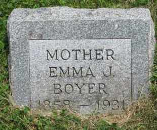 BOYER, EMMA J. - Yankton County, South Dakota | EMMA J. BOYER - South Dakota Gravestone Photos
