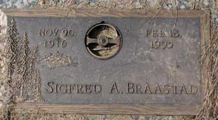BRAASTAD, SIGFRED A. - Yankton County, South Dakota   SIGFRED A. BRAASTAD - South Dakota Gravestone Photos