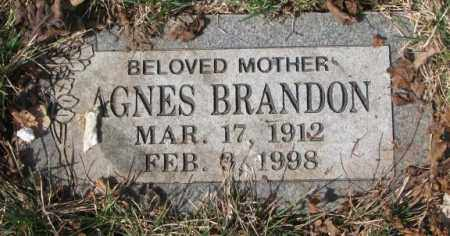 BRANDON, AGNES - Yankton County, South Dakota | AGNES BRANDON - South Dakota Gravestone Photos