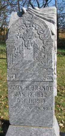 BRANDT, JOHN H. - Yankton County, South Dakota | JOHN H. BRANDT - South Dakota Gravestone Photos