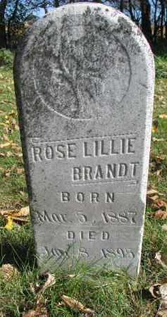 BRANDT, ROSE LILLIE - Yankton County, South Dakota   ROSE LILLIE BRANDT - South Dakota Gravestone Photos
