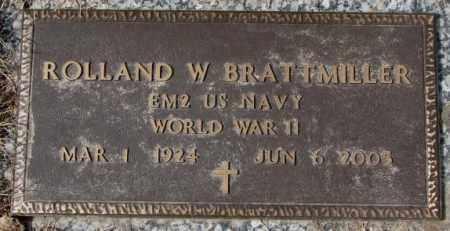 BRATTMILLER, ROLLAND W. - Yankton County, South Dakota | ROLLAND W. BRATTMILLER - South Dakota Gravestone Photos