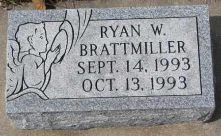 BRATTMILLER, RYAN W. - Yankton County, South Dakota | RYAN W. BRATTMILLER - South Dakota Gravestone Photos