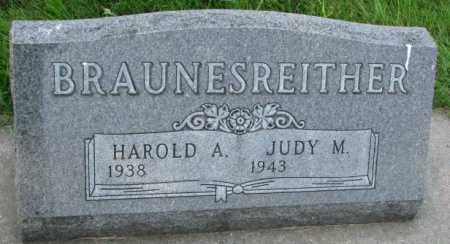 BRAUNESREITHER, HAROLD A. - Yankton County, South Dakota | HAROLD A. BRAUNESREITHER - South Dakota Gravestone Photos