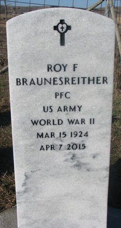 BRAUNESREITHER, ROY F. - Yankton County, South Dakota | ROY F. BRAUNESREITHER - South Dakota Gravestone Photos