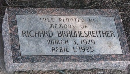 BRAUNESREITHER, RICHARD (TREE MEMORIAL) - Yankton County, South Dakota | RICHARD (TREE MEMORIAL) BRAUNESREITHER - South Dakota Gravestone Photos