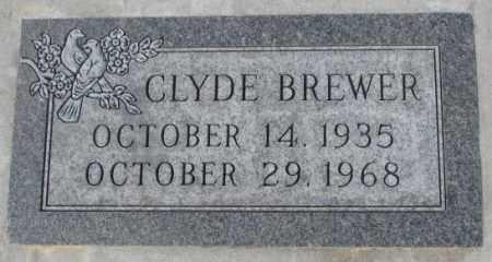 BREWER, CLYDE - Yankton County, South Dakota | CLYDE BREWER - South Dakota Gravestone Photos