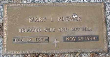 BREWER, MARY L. - Yankton County, South Dakota   MARY L. BREWER - South Dakota Gravestone Photos