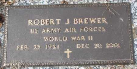 BREWER, ROBERT J. - Yankton County, South Dakota   ROBERT J. BREWER - South Dakota Gravestone Photos