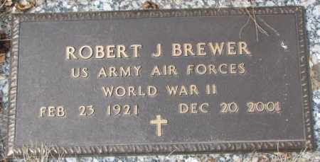 BREWER, ROBERT J. - Yankton County, South Dakota | ROBERT J. BREWER - South Dakota Gravestone Photos