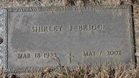BRIDGE, SHIRLEY J. - Yankton County, South Dakota | SHIRLEY J. BRIDGE - South Dakota Gravestone Photos