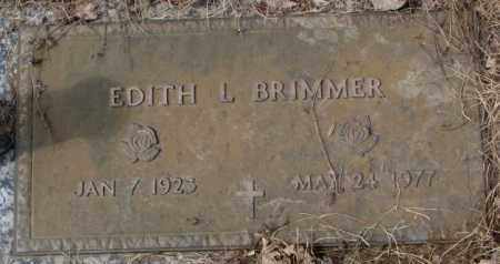 BRIMMER, EDITH L. - Yankton County, South Dakota | EDITH L. BRIMMER - South Dakota Gravestone Photos