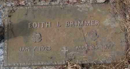 BRIMMER, EDITH L. - Yankton County, South Dakota   EDITH L. BRIMMER - South Dakota Gravestone Photos