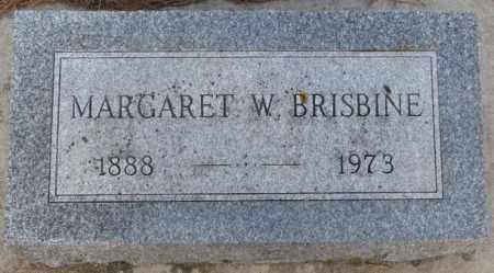 BRISBINE, MARGARET W. - Yankton County, South Dakota | MARGARET W. BRISBINE - South Dakota Gravestone Photos