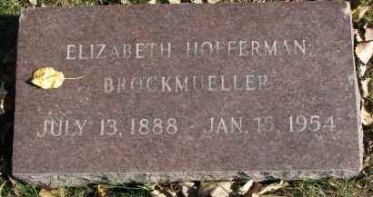 HOFFERMAN BROCKMUELLER, ELIZABETH - Yankton County, South Dakota | ELIZABETH HOFFERMAN BROCKMUELLER - South Dakota Gravestone Photos