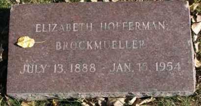 BROCKMUELLER, ELIZABETH - Yankton County, South Dakota | ELIZABETH BROCKMUELLER - South Dakota Gravestone Photos