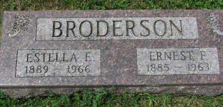 BRODERSON, ESTELLA E. - Yankton County, South Dakota | ESTELLA E. BRODERSON - South Dakota Gravestone Photos