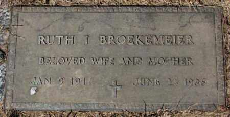 BROEKEMEIER, RUTH I. - Yankton County, South Dakota   RUTH I. BROEKEMEIER - South Dakota Gravestone Photos
