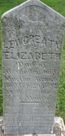 BROWN, LEWOREATY ELIZABETH - Yankton County, South Dakota   LEWOREATY ELIZABETH BROWN - South Dakota Gravestone Photos