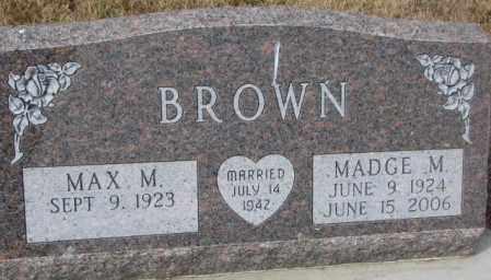 BROWN, MADGE M. - Yankton County, South Dakota   MADGE M. BROWN - South Dakota Gravestone Photos