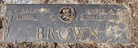 BROWN, MARIE A. - Yankton County, South Dakota | MARIE A. BROWN - South Dakota Gravestone Photos