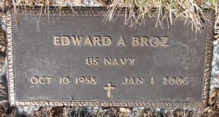 BROZ, EDWARD A. - Yankton County, South Dakota   EDWARD A. BROZ - South Dakota Gravestone Photos