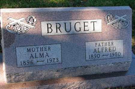 BRUGET, ALMA - Yankton County, South Dakota   ALMA BRUGET - South Dakota Gravestone Photos