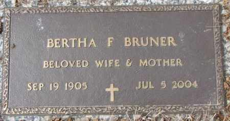BRUNER, BERTHA F. - Yankton County, South Dakota | BERTHA F. BRUNER - South Dakota Gravestone Photos