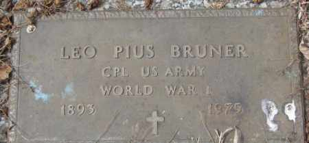 BRUNER, LEO PIUS - Yankton County, South Dakota   LEO PIUS BRUNER - South Dakota Gravestone Photos