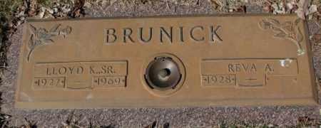 BRUNICK, LLOYD K. SR. - Yankton County, South Dakota   LLOYD K. SR. BRUNICK - South Dakota Gravestone Photos