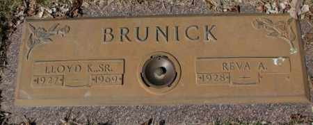 BRUNICK, REVA A. - Yankton County, South Dakota | REVA A. BRUNICK - South Dakota Gravestone Photos