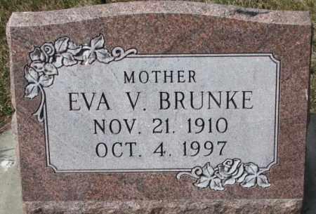 BRUNKE, EVA V. - Yankton County, South Dakota | EVA V. BRUNKE - South Dakota Gravestone Photos