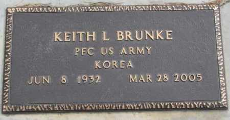 BRUNKE, KEITH L. (MILITARY) - Yankton County, South Dakota | KEITH L. (MILITARY) BRUNKE - South Dakota Gravestone Photos