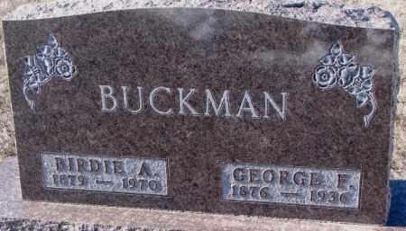 BUCKMAN, GEORGE F. - Yankton County, South Dakota | GEORGE F. BUCKMAN - South Dakota Gravestone Photos