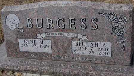 BURGESS, GENE M. - Yankton County, South Dakota | GENE M. BURGESS - South Dakota Gravestone Photos