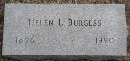 BURGESS, HELEN L. - Yankton County, South Dakota   HELEN L. BURGESS - South Dakota Gravestone Photos