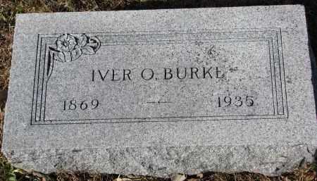 BURKE, IVER O. - Yankton County, South Dakota   IVER O. BURKE - South Dakota Gravestone Photos