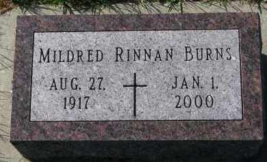 RINNAN BURNS, MILDRED - Yankton County, South Dakota | MILDRED RINNAN BURNS - South Dakota Gravestone Photos