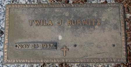 BURWITZ, TWILA J. - Yankton County, South Dakota   TWILA J. BURWITZ - South Dakota Gravestone Photos
