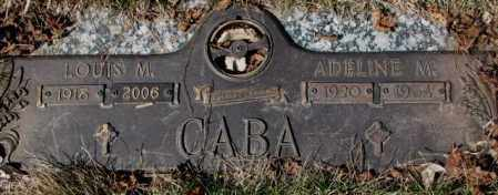 CABA, ADELINE M. - Yankton County, South Dakota   ADELINE M. CABA - South Dakota Gravestone Photos