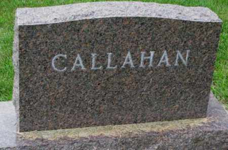 CALLAHAN, PLOT - Yankton County, South Dakota | PLOT CALLAHAN - South Dakota Gravestone Photos
