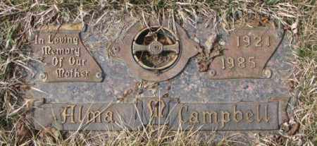 CAMPBELL, ALMA M. - Yankton County, South Dakota | ALMA M. CAMPBELL - South Dakota Gravestone Photos