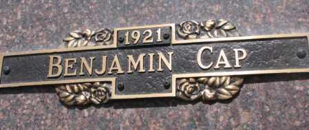 CAP, BENJAMIN - Yankton County, South Dakota | BENJAMIN CAP - South Dakota Gravestone Photos