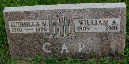 CAP, LUDMILLA M. - Yankton County, South Dakota | LUDMILLA M. CAP - South Dakota Gravestone Photos
