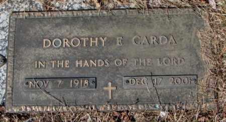 CARDA, DOROTHY E. - Yankton County, South Dakota | DOROTHY E. CARDA - South Dakota Gravestone Photos