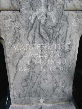 CARLSON, MARGERETHE (CLOSEUP) - Yankton County, South Dakota   MARGERETHE (CLOSEUP) CARLSON - South Dakota Gravestone Photos