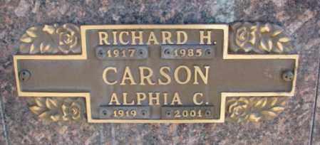 CARSON, ALPHIA C. - Yankton County, South Dakota | ALPHIA C. CARSON - South Dakota Gravestone Photos