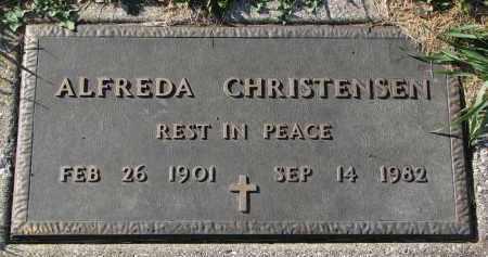 CHRISTENSEN, ALFREDA - Yankton County, South Dakota | ALFREDA CHRISTENSEN - South Dakota Gravestone Photos